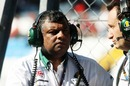 Tony Fernandes on the pitwall