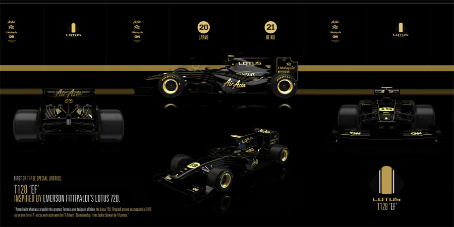 The abandoned black and gold Team Lotus livery