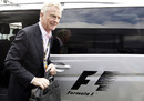 Max Mosley arrives at the British Grand Prix