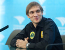 Vitaly Petrov during the press conference announcing he would keep his drive with Renault