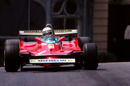 Jody Scheckter wrestles his Ferrari through Casino Square
