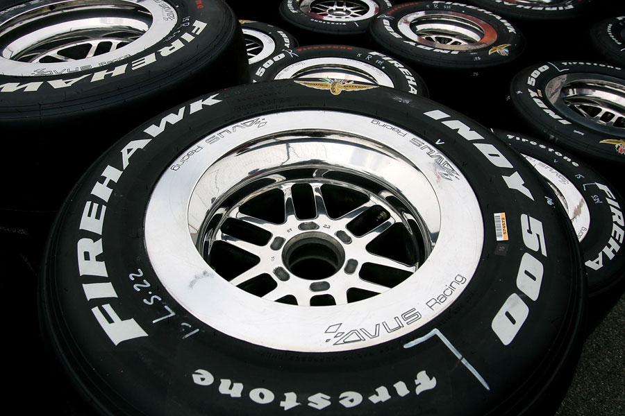 Tyres lined up for the Indy 500