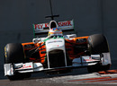 Paul di Resta samples the Pirelli tyres