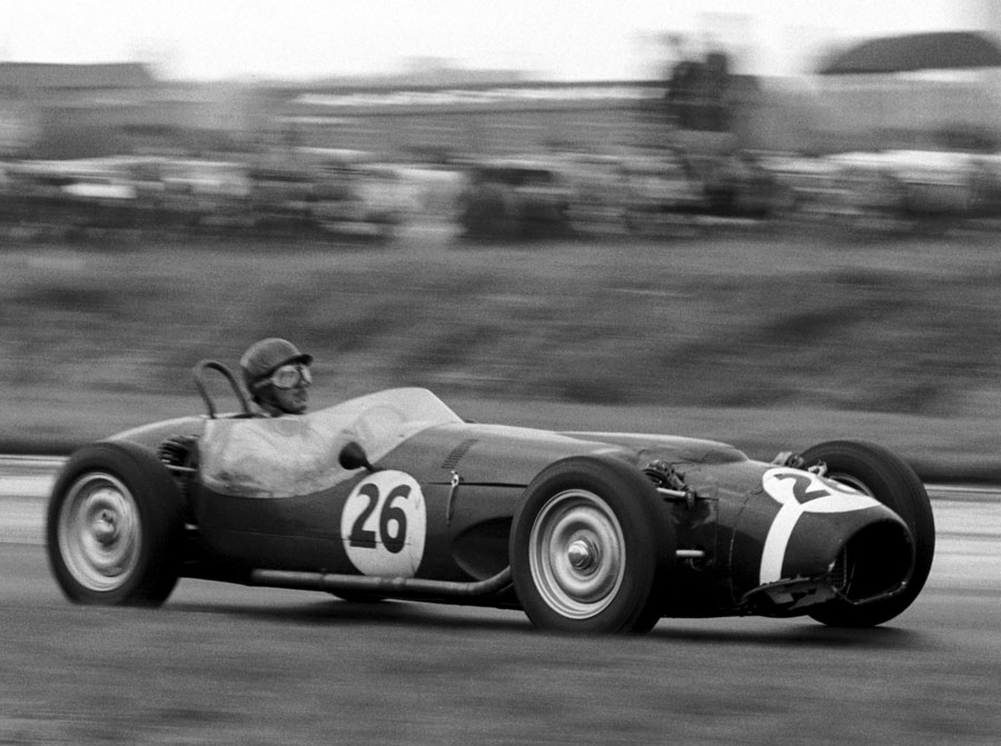 Jack Fairman in the 4WD Ferguson P99 before handing it over to Stirling Moss, who was eventually disqualified