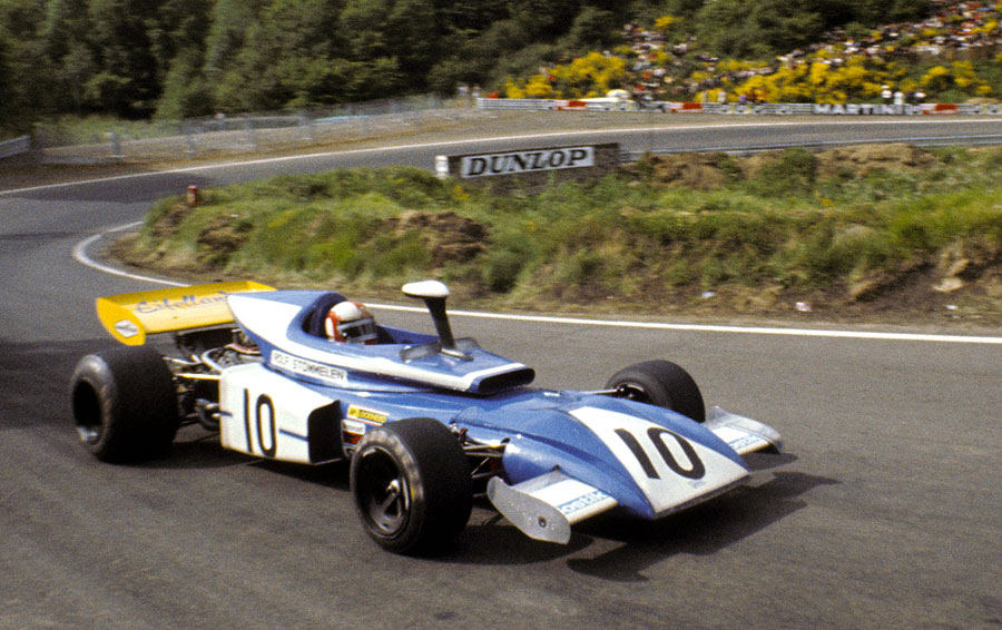 Rolf Stommelen exits the hairpin in his Eifelland-March 721