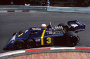 Jody Scheckter tackles the Lowes Hairpin in the Tyrrell P34 six-wheeler