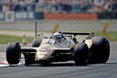 Riccardo Patrese lifts an inside wheel in the Arrows A2