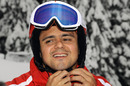Felipe Massa prepares to hit the slopes