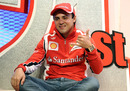 Felipe Massa poses for a photo at Ferrari's skiing retreat in the Italian Dolomites
