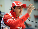Felipe Massa faces the world's media during a press conference