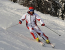 Ferrari test driver Giancarlo Fisichella tackles the slopes at Ferrari's media event in the Italian Dolomites