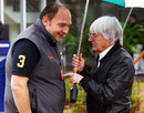 Colin Kolles and Bernie Ecclestone in conversation in the paddock