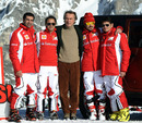 Luca di Montezemolo with Ferrari's driver line-up