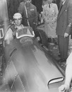 Alberto Ascari prepares to head out on track - he was to win the race