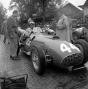 Piero Taruffi in conversation on the starting grid