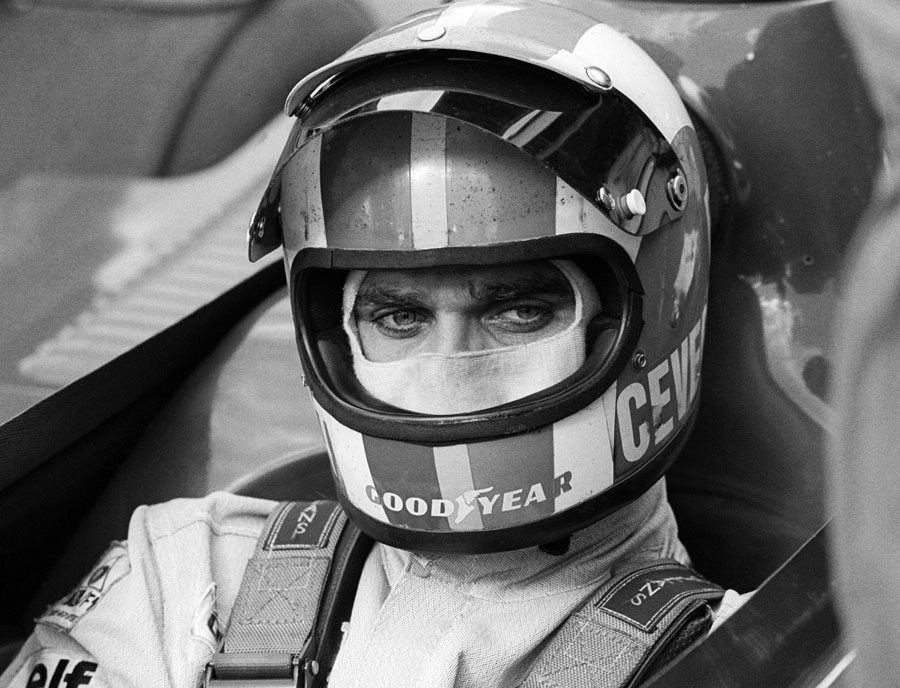 Francoise Cevert in the cockpit of his Tyrrell before the race