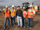 US Grand Prix organiser Tavo Hellmund with his construction force on the site of the new race track