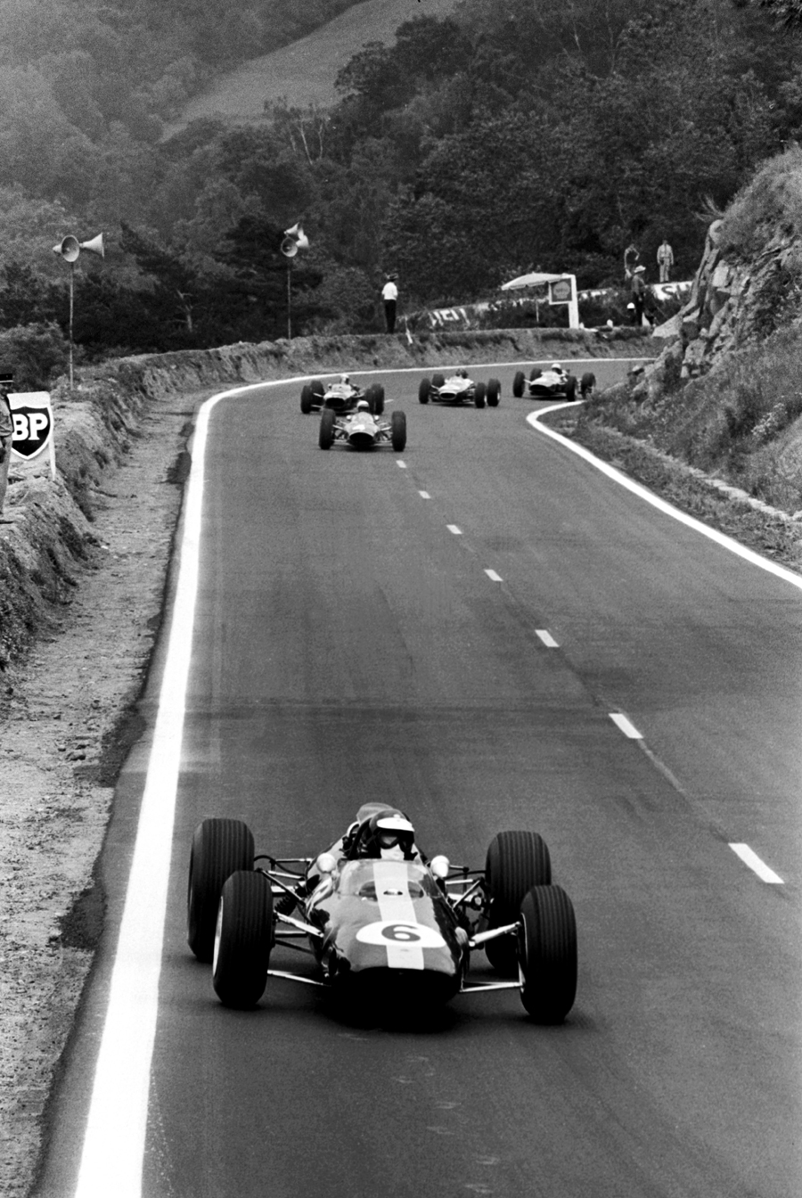 Jim Clark leads on his way to victory in the French Grand Prix