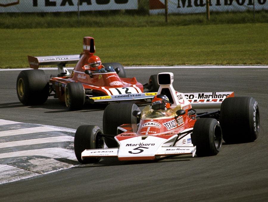 Emerson Fittipladi keeps Niki Lauda at bay