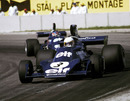 Jody Scheckter leads Tyrrell team-mate Patrick Depailler ahead of their one-two victory