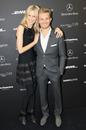Model Karolina Kurkova and Nico Rosberg during the Mercedes Benz Fashion Week