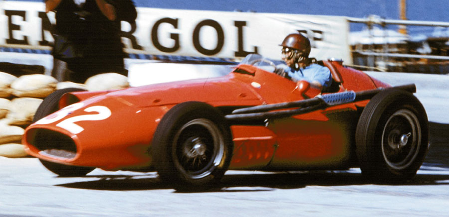 Juan Manuel Fangio during the Monaco Grand Prix