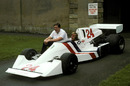 Lord Hesketh and James Hunt unveil the Hesketh 308C at the Lord's mansion