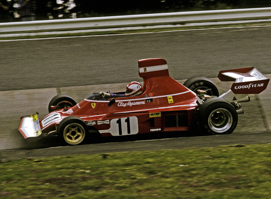 Clay Regazzoni tackles the Carousel on his way to victory