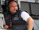 HRT team principal Colin Kolles on the pit wall