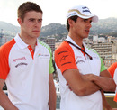 Paul di Resta and Adrian Sutil on Vijay Mallya's yacht