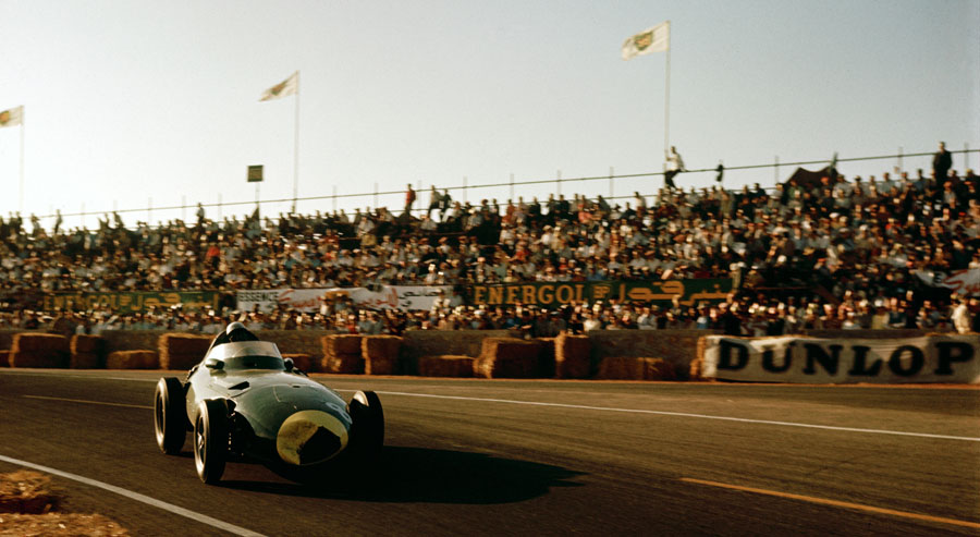 Stirling Moss on his way to victory in Morocco