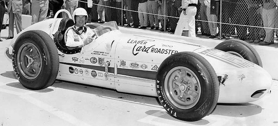 Rodger Ward poses before his win at the 1959 Indianapolis 500