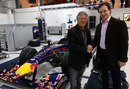 Mario Andretti gets a tour of the Red Bull factory with Christian Horner