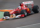 Fernando Alonso puts the first miles on the Ferrari F150