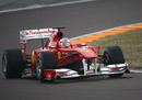 Fernando Alonso gets his first taste of Ferrari's 2011 car