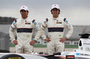 Kamui Kobayashi and Sergio Perez unveil the new Sauber C30