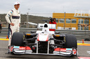 Kamui Kobayashi with the new Sauber C30