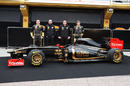 Robert Kubica, Gerard Lopez, Eric Boullier and Vitaly Petrov with the new Lotus Renault R31