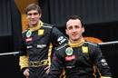 Robert Kubica and Vitaly Petrov at the Lotus Renault R31 launch