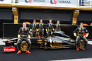 Lotus Renault drivers pose with the new R31