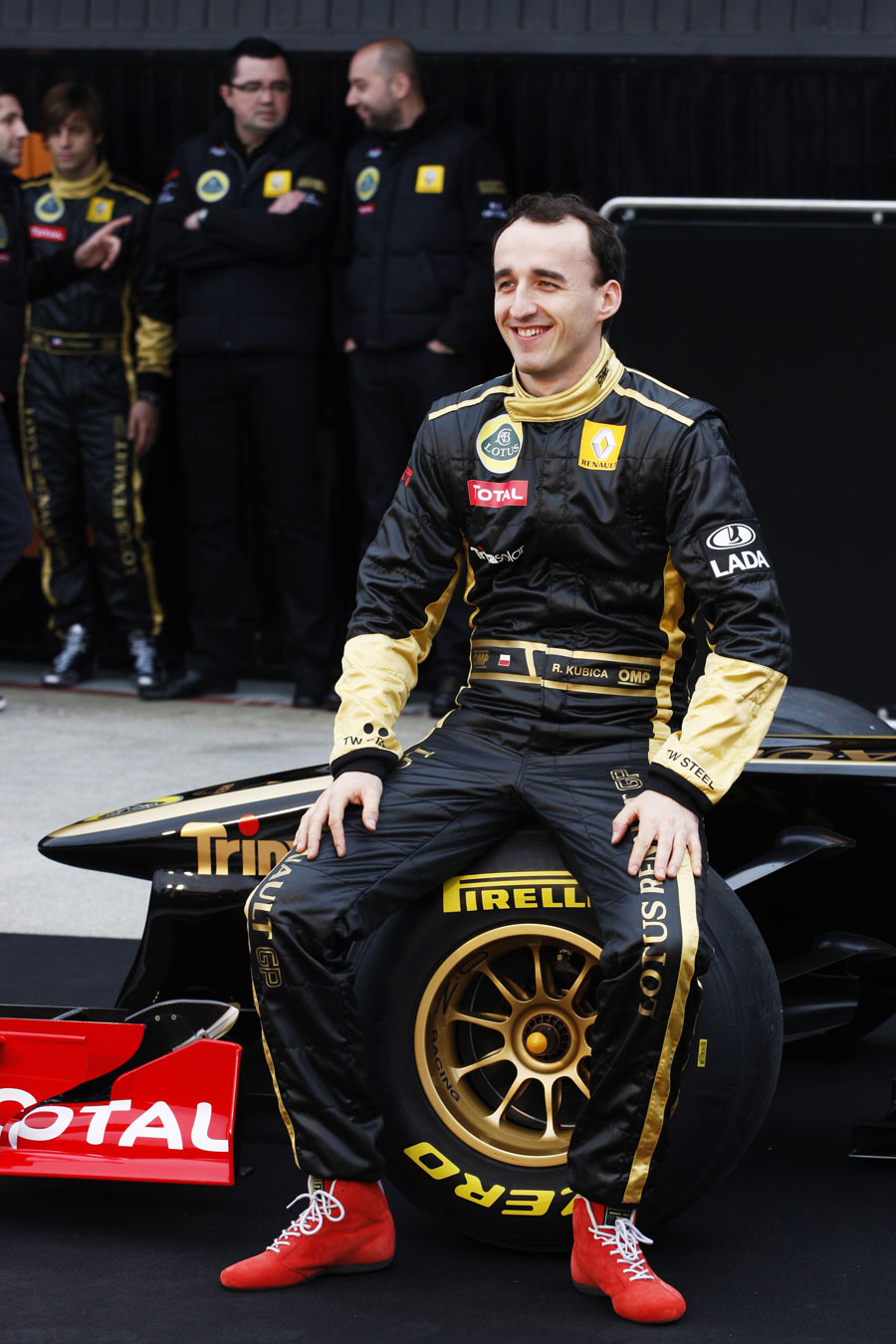 Robert Kubica at the launch of the Lotus Renault GP R31