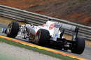 Kamui Kobayashi on track in the new Sauber C30