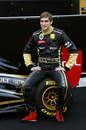 Vitaly Petrov at the Lotus Renault R31 launch