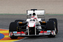 Kamui Kobayashi puts the Sauber through its paces