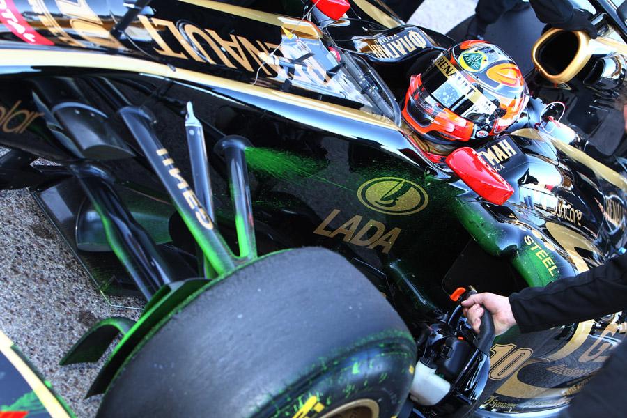 Robert Kubica in the Renault R31
