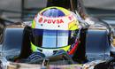 New boy Pastor Maldonado behind the wheel of the Williams