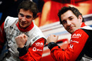 Timo Glock and Jerome d'Ambrosio make time for a bit of watch promotion
