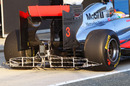 McLaren runs an aero and tyre wear measuring device on the back of its MP4-26