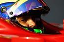 Felipe Massa in the cockpit of the Ferrari F150
