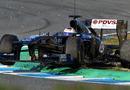 Pastor Maldonado misjudges Jerez's Ayrton Senna chicane
